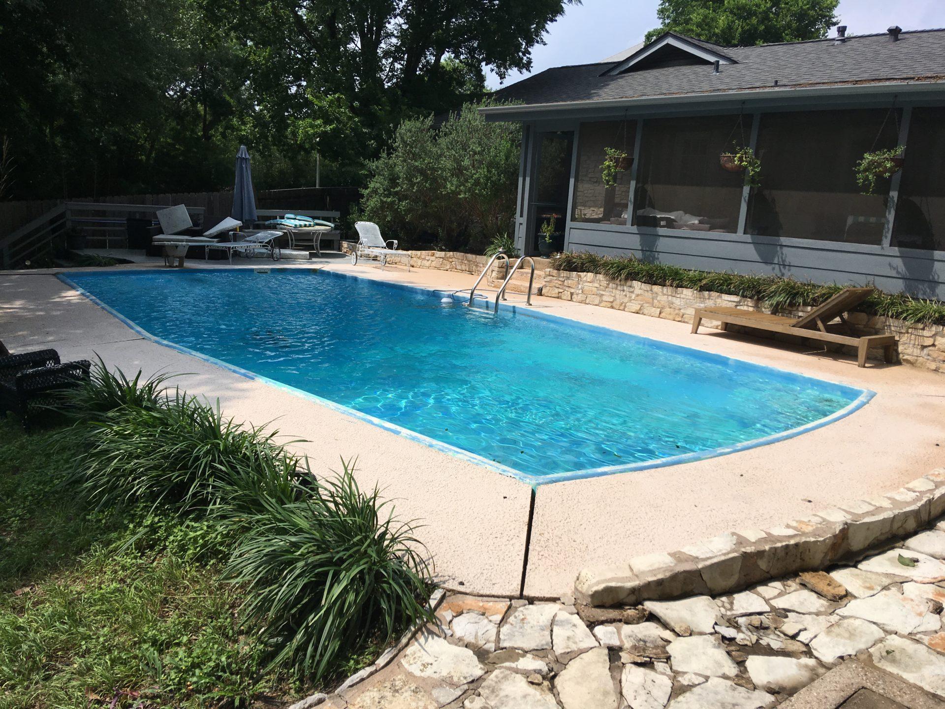 Pool Deck Power washing Austin